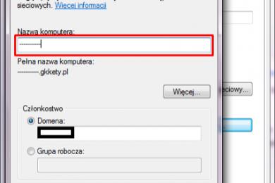Zmiana nazwy komputera Windows 7.